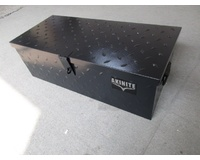 Black Steel 775mm Toolbox Heavy Duty Diamond Plate Tool Box For Utes & Trailers