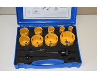 14 Piece Combination Holesaw Kit Bi-Metal Combination Hole saw Kit Wood Metal Set New