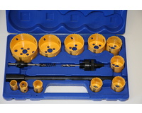 16 Piece Industrial Holesaw Kit Bi-Metal Combination Hole saw Kit Wood Metal Set New