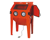 Sandblasting Cabinet Upright Heavy Duty 350L Capacity Cabinet With Vacuum Filter
