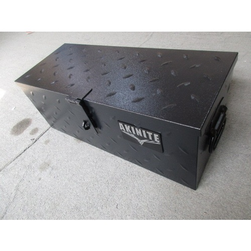 Black Steel 552mm Toolbox Heavy Duty Diamond Plate Tool Box For Utes & Trailers